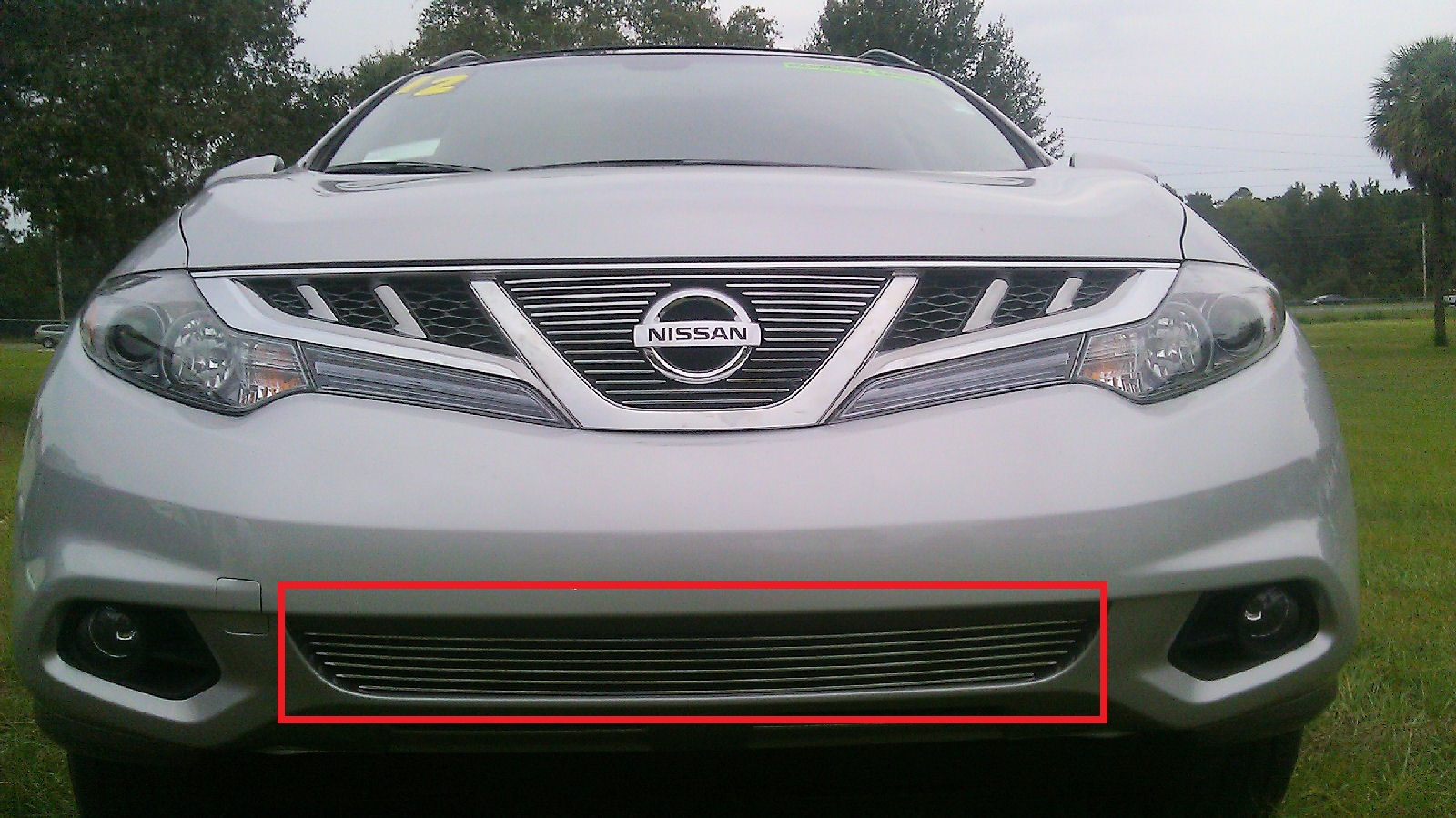 2011 nissan murano 1pc bumper overlay billet grille vanachro Image collections