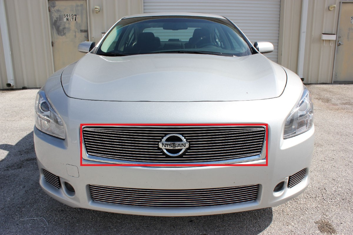 2013 nissan maxima 4pc combo design mesh grille kit wreplace 2013 nissan maxima 1pc overlay upper billet grille kit quick view vanachro Choice Image